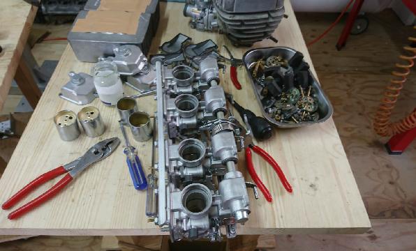 エンジンキャブレターオーバーホール施工例4